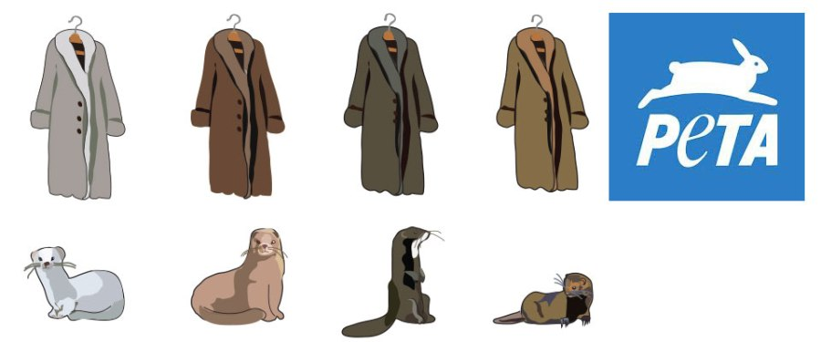 PETA donations website page illustration