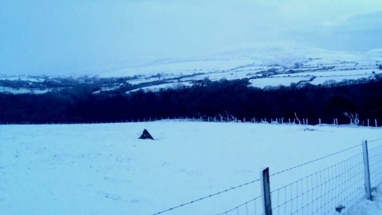 Snowy peaks in Wales