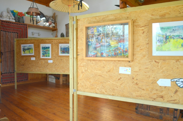 Seaside-inspired artwork by Katie Moritz at Salterns Open Studio 2015