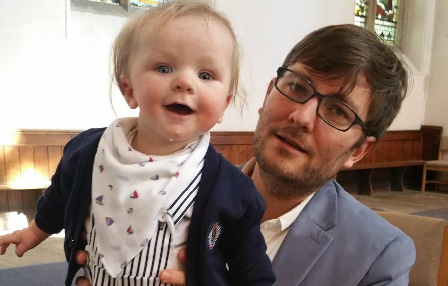 Gratuitous cute picture of my son, Isaac (and my lovely hub, Mike)