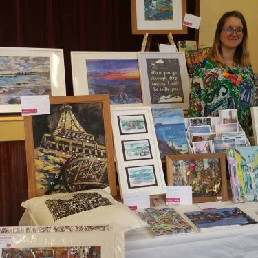 Some of my artwork at Northwood Market