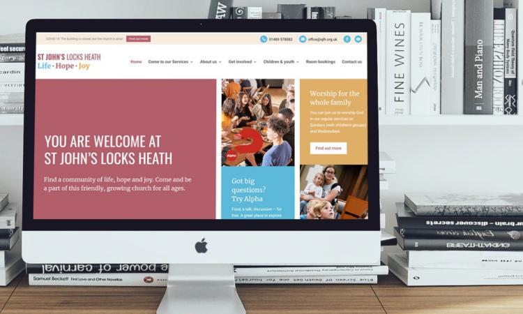 'St John's Locks Heath' Church branding and website development