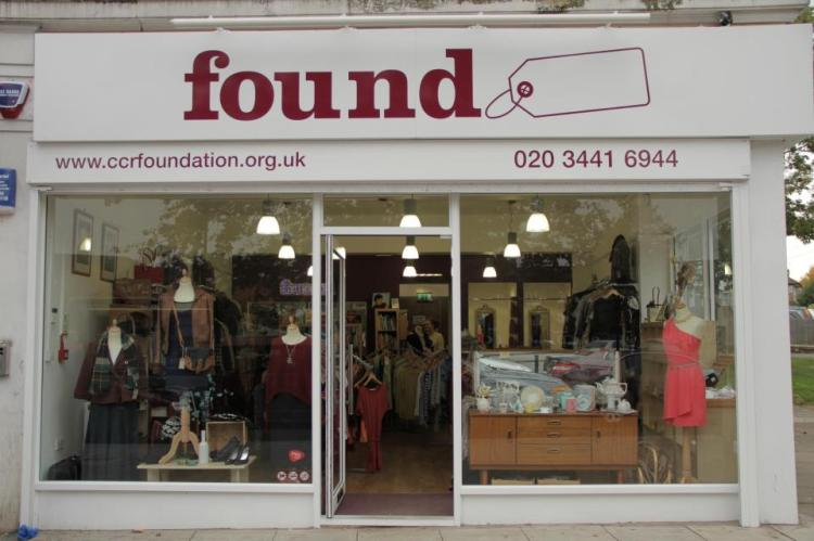Branding and visual merchandising for 'Found' Charity Shop