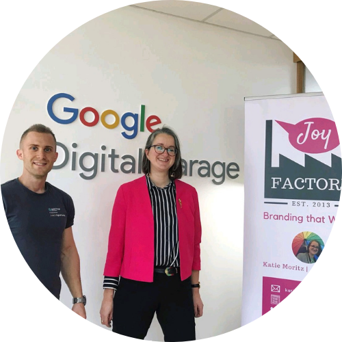 Katie co-hosting a digital growth event for churches with Google Digital Garage