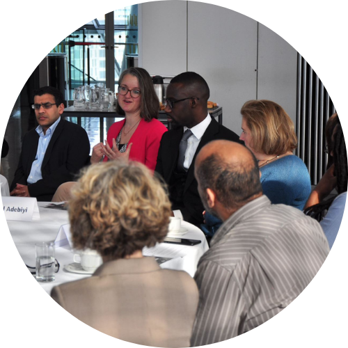 Katie at the City of London Roundtable for Diverse Entrepreneurship